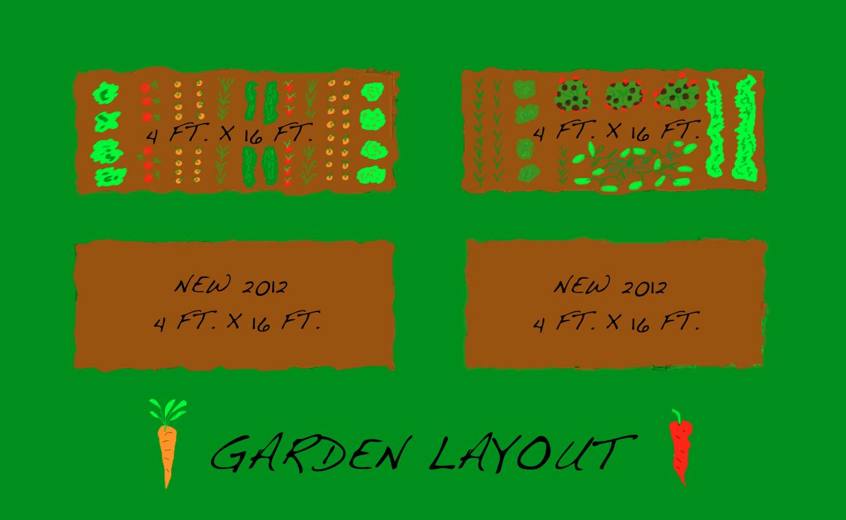 Our garden the year round harvest for Layout garden plots