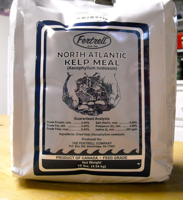 A bag of Kelp Meal