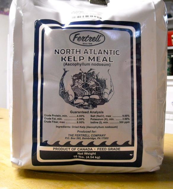 A bag of Kelp Meal
