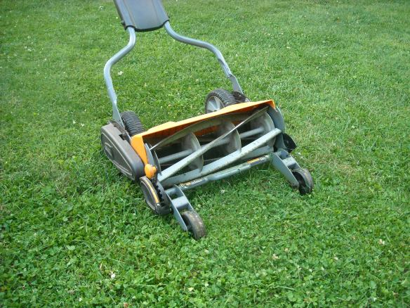 The Fiskar Momentum mower.
