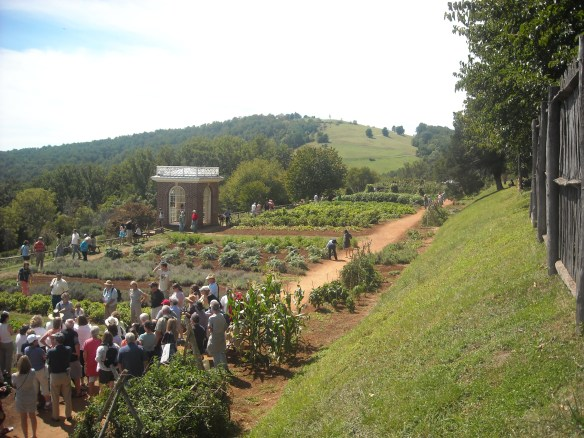 The garden at Monticello.