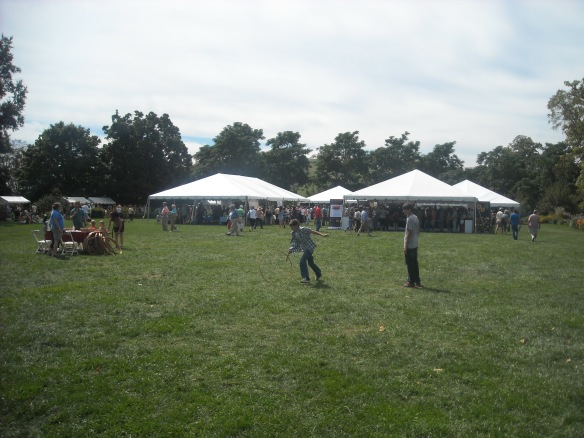 Event area at the Heritage Harvest Festival.