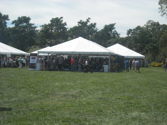 The event area at the Heritage Harvest Festival.