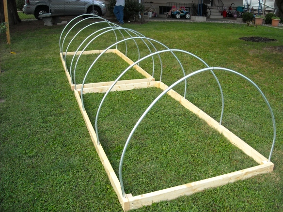 A low tunnel frame.