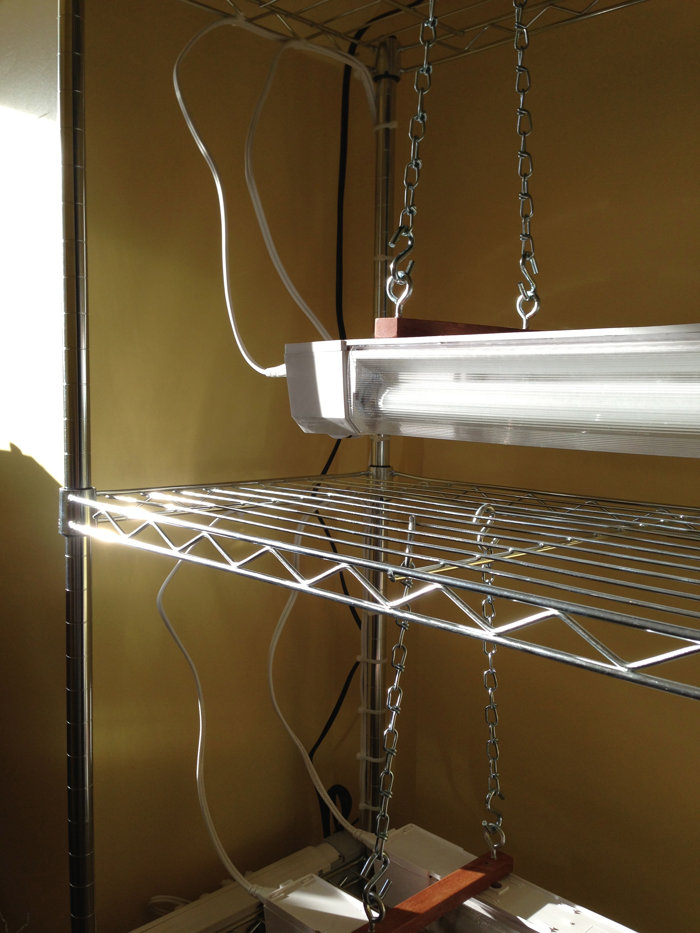 A Simple Seed Starting Stand The Year Round Harvest Wiring Up Grow Lights On