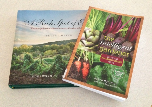 The cover of A Rich Spot of Earth and The Intelligent Gardener.