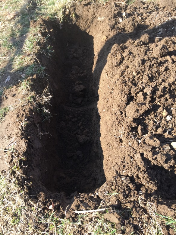 Double digging trench