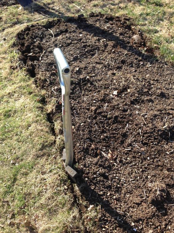 Garden Spade Edging a Garden Bed